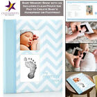 Pearhead Baby Memory Book Photo Journal Album Book with Clean Touch Ink Pad