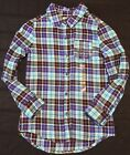 Nwt The Childrens Place Girls Plaid Long Sleeve Shirt Size 7 8