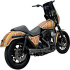 Bassani Black Short Road Rage Exhaust System 2 Into 1 for Harley FXR