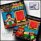 SCHOOL RULES 2 premade scrapbooking pages paper printed layout 4 album CHERRY