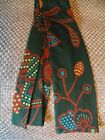 Vintage 60s MENS TIE BY TUDOR COTTON SQUARE BOTTOM NICE FALL COLORS