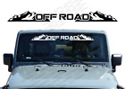 Off Road - Windshield Banner Decal Back Window Sticker Fits Jeep 4x4 Mud Wb13