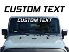 Custom Text Lettering Windshield Banner Decal Window Sticker Jeep Wrangler Wb16
