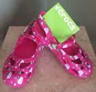 New Childrens Girls Hello Kitty Mary Jane Crocs Pink Size 13 Free Shipping