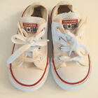Converse White All Star Sneakers Lace Up Unisex Baby Girls Boys Size 6 Toddler