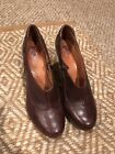 Indigo By Clarks Brown Leather Comfortable Boots Booties Size 95