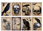 8 Vintage Halloween Hang Tags Scrapbooking Journaling Cards Paper Crafts 369