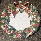 Vintage Fitz and Floyd Christmas Wreath Decorative plate