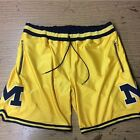 Michigan Wolverine Shorts Custom Made Fab Five size Small Vintage Authentic
