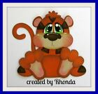 STUFFY TIGER ZOO everyday for Premade Scrapbook Pages Die Cut Rhonda
