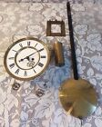 Gebruder Resch Remember Pre 1880 Vienna Wall Clock Face Movement Weight Pendulum