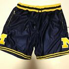 Michigan Wolverine Shorts Custom Navy Fab Five size Small Vintage Authentic