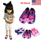 US Girls Kids Mini Melissa Jelly Sandals Beauty And Beast Princess Bow Tie Shoes