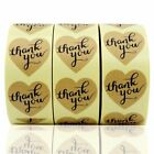 1500Pcs 15 Heart Shaped Thank You Sticker Craft gift Paper Adhesive Label