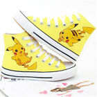 High Tops Casual Canvas Shoes Pokemon Go Pikachu Ankle Unisex Handmade Sneakers