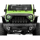 Angry Skull II Gloss Black Replacement Mesh Grille for 07 18 Jeep Wrangler JK