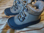 Faded Glory Toddler Boys Faux Fur Boots Blue  Gray Size 8