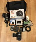 Canon EOS 550D with 4 lenses 18MP Digital SLR Camera Includes a bag
