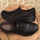 MONTANA ARTISAN CRAFTED WOMENS BLACK LEATHER SLIP ONS SIZE 10M