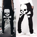 Men's Skull Printing Casual Jogger Sportwear Baggy Harem Pants Slacks Trousers ;