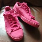 PUMA Womens Pink Suede Classic Lace up sz 8 Rose Monotone Textured Shoes