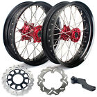 17''X4.25 Supermoto Complete Wheel Rim Hubs Set for Honda CRF 250 R X CRF450 R X