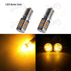 2x Amber Rear Signal Flasher Light LED for Hrley Dyna CVO Electra Glide Softail