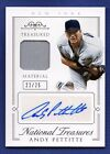 2015 Panini National Treasures Andy Pettitte Auto Autograph Jersey #ed 22 25