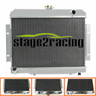 4Row Aluminum Radiator For Jeep CJ Series CJ5 CJ6 CJ7 L6 With V8 Engine 72 to 86