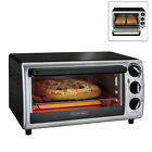 4-Slice Toaster Oven Countertop 3-Knob Controls 30 Minute Timer With Baking Pan