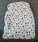 Circo crib sheet boy sports theme blue gray white toddler bed