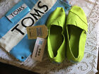 Womens TOMS Classic Lime Green Canvas Shoes Sz 9 NEW w tags  bag