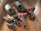 Black & Decker Cordless drill x 2 with 3 batteries & 2 chargers.