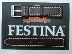 20MM WATCH NEW BAND STRAP BROWN GENUINE LEATHER WIDTH WITH BUCKLE SIGNED FESTINA