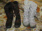 2 Pair US Polo Asson Womens Bobcat Winter Boots Brown  Light Gray Size 75M
