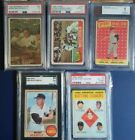 Mickey Mantle Graded Baseball card lot 1953, 1958, 63,65,68 PSA SGC BVG