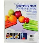 Set of 2 Flexible Plastic Cutting  Chopping Boards Mats 11x14 Crafts Knives