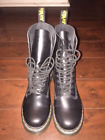 Dr Martins 10 hole boots NEW Black Size 7 woman DEADSTOCK 140 retail