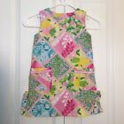 Lilly Pulitzer Toddler Girls Dress Floral Lining Pink Yellow Green Size 4