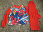 Cute Boys Red SPIDERMAN Pajamas Top  Pants Set By MARVEL Size 6 7 WARM  COZY