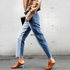 Vintage Women Lady BF High Waist Wide Leg Loose Casual Harem Jeans Pants Trouser