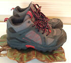 Columbia Big Boys Kids Size 1 Black  Red Hiking Boots Outdoor Walking Shoes