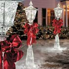 SALE 4 Lighted Pre Lit Christmas Victorian Lamp Post Outdoor Holiday Yard Decor