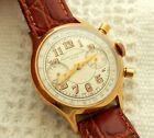 VINTAGE BAUME & MERCIER CHRONOGRAPH LARGE MIRROR NUMBERS 35.7MM GOLD PLATED CASE