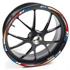 USEN Sticker wheel Rim Suzuki DR 125 R125 SM 125SM Red Blue strip tape vinyl adh