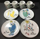 Vintage Set of (8) Pieces of Fritz & Floyd Fat Is Beautiful  Mugs & Plates Excel