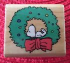 Rubber Stampede A439C PEANUTS HOLIDAY SNOOPY Stamp