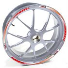 USEN Sticker wheel Rim Derbi silver Supermotard X Treme 50 Red strip tape vinyl