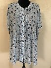 Torrid Baby Blue Sheer Button Up With Elastic Waist Band Size 5