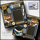 GRADUATION DAY girl 2 Premade Scrapbook Pages paper printed layout album CHERRY
